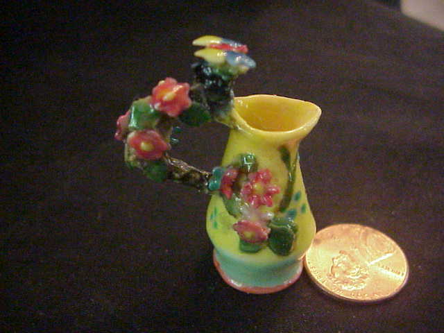 all porcelain embellished pitcher ewer Janet Uyetake 1 - Click Image to Close